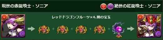 【パズドラ】赤ソニアの究極進化材料は『レッドドラゴンフルーツ×4+闇の宝玉』