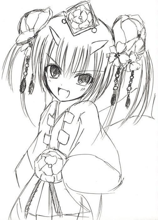 【チェンクロ】ツル姫描いて見た【実装まだ?!】