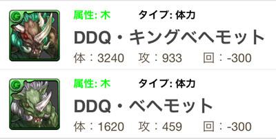 DDQ・ベヘモット/DDQ・キングベヘモット【パズドラ×カプコンコラボ】