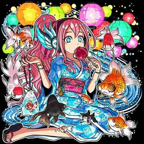 【ドラポ】お祭りスピカ(浴衣)【ドラゴンポーカー】