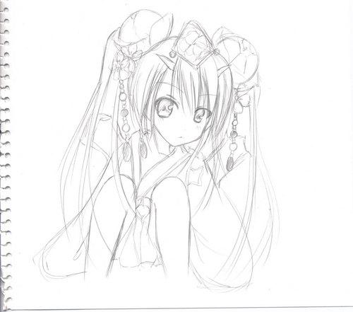 【チェンクロ】けいおんのあずにゃん風ツル姫描いて見た【チェインクロニクル】