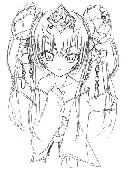 【チェインクロニクル】ツル姫のらくがき【チェンクロ】