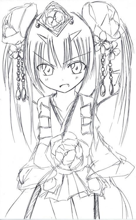 【チェンクロ】ツル姫イラストまた描いたよ!